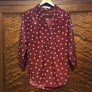 ModCloth polka dot blouse- medium GUC